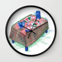periodic table Wall Clocks featuring Table by Margarida Esteves