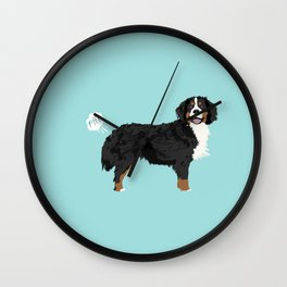Bernese Mountain Dog dog breed funny dog fart Wall Clock