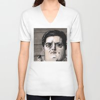 dale cooper V-neck T-shirts featuring Dale Cooper by Drawn by Nina