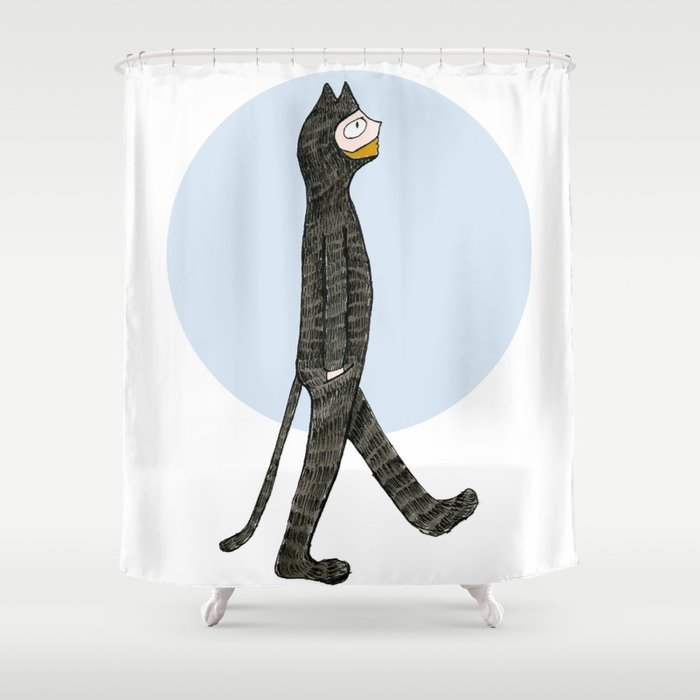 Cat Blues Shower Curtain