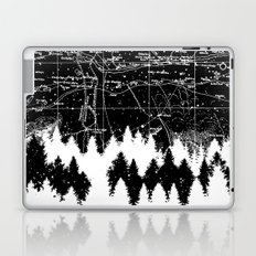 Map Silhouette Square Laptop & iPad Skin