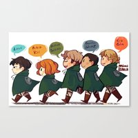 snk Canvas Prints featuring SNK-Special ops. squad by Mimiblargh