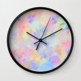 Secret Garden Colorful Abstract Impressionist Painting Wall Clock
