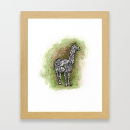 llama on a trip Framed Art Print