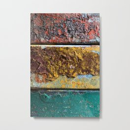 Rusty Flag Metal Print