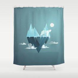 Low Poly Polar Bear Shower Curtain
