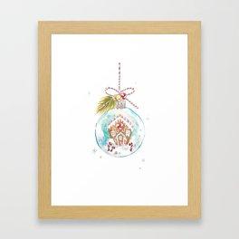Gingerbread House Framed Art Print