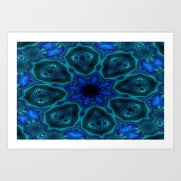 Battling At The Chasm Mandala 1 Art Print
