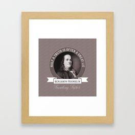 Benjamin Franklin the Whole Truth Framed Art Print