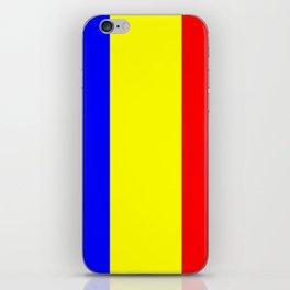 Flag of romania 2 -romania,romanian,balkan,bucharest,danube,romani,romana,bucuresti iPhone Skin
