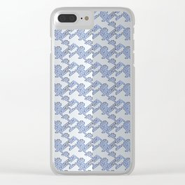 Traditional Japanese pattern YABURE-SAYAGATA Clear iPhone Case