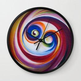 Multicolored spirals Wall Clock