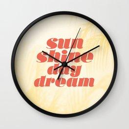 sunshine daydream Wall Clock