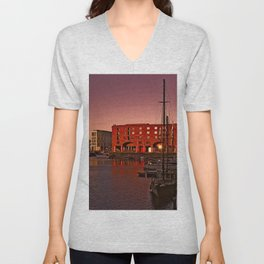 Albert Docks, Liverpool Unisex V-Neck