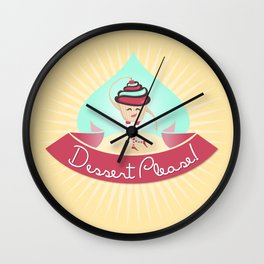 Dessert Please! (Yellow) Wall Clock
