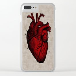Human Heart Clear iPhone Case