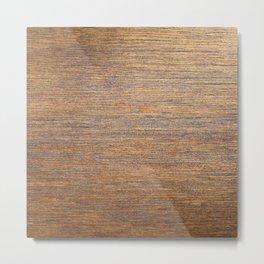 Rustic brown gold wood texture Metal Print