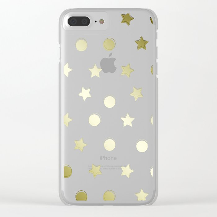 Gold Confetti Clear iPhone Case