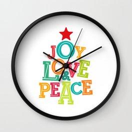 Joy, Love & Peace Wall Clock