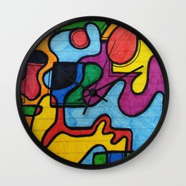 Picasso style Wall Clock