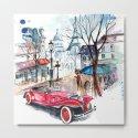 Red retro car by julianarw