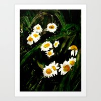 daisies Art Prints featuring Daisies by James Peart