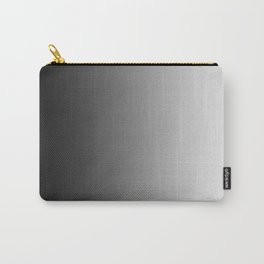 Black to White Vertical Linear Gradient Carry-All Pouch