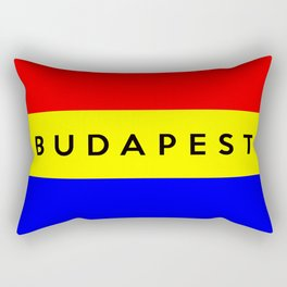 Budapest city Hungary country flag name text Rectangular Pillow