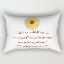 She Is Clothed With Strength And Dignity Proverbs 31:25 Rectangular Pillow