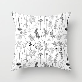 Botanical Drawings by young school kids artists, profits are donated to The Ivy Montessori School Throw Pillow