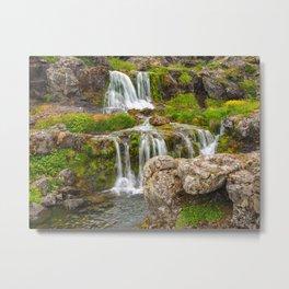 Waterfalls at Dynjandi, Iceland Metal Print