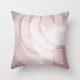 Orbiting Lace in Shell Pink Tones Throw Pillow