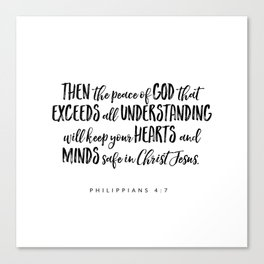 Philippians 4:7 Bible Verse Canvas Print