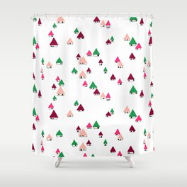 Huts Shower Curtain