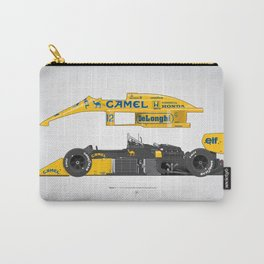 Outline Series N.º5, Ayrton Senna, Lotus 99T-Honda, 1987 Carry-All Pouch