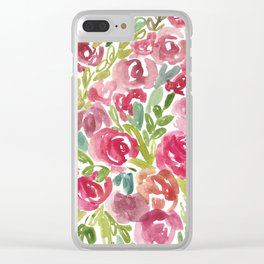 Maya's Garden Watercolor Painting Clear iPhone Case