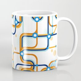A subway map. Seamless pattern. Vector illustration. Coffee Mug