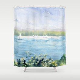 Cayuga Lake Regatta Shower Curtain