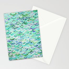 Marble Mosaic in Mint Quartz and Jade Stationery Cards