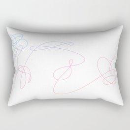 BTS Love Yourself Complete Flower Rectangular Pillow