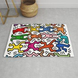 Homage to Keith Haring Acrobats II Rug