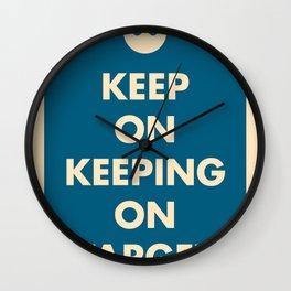 Keep On Keeping On Target (Blue) Wall Clock