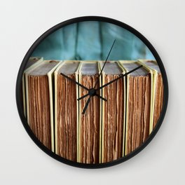 Antique Deckled Pages Wall Clock
