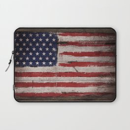 Wood American flag Laptop Sleeve