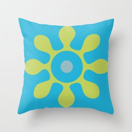 Organic Floral Shape Throw Pillow