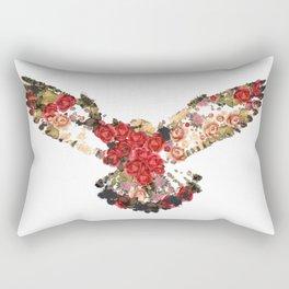 Peregrine Falcon Vintage Rectangular Pillow