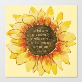 Consider the Sunfower Canvas Print
