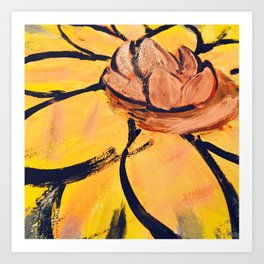 Lotus Painting by: The Tea Confidential Art Print