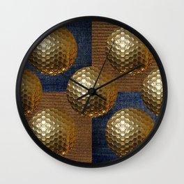 GOLD GOLF Wall Clock