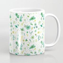 Verdant Green Flowers Coffee Mug
